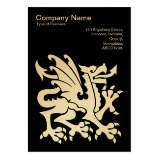 Dragon - (Gold) on Black Pack Of Chubby Business Cards