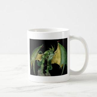 Dragon Green on Rock Basic White Mug