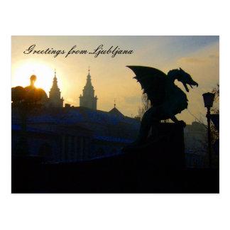 dragon greetings post cards