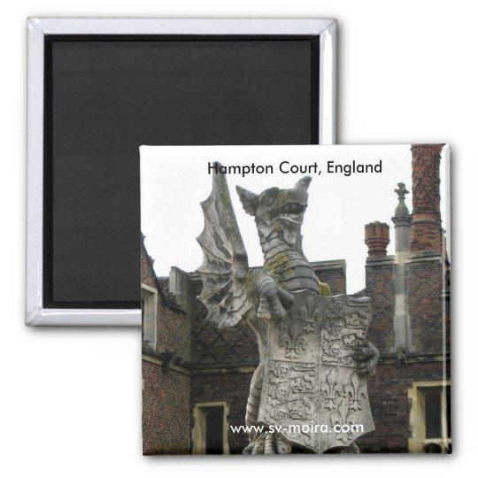 Dragon, Hampton Court, England Square Magnet