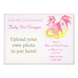 Dragon Hatchling Birth Announcement for Girls