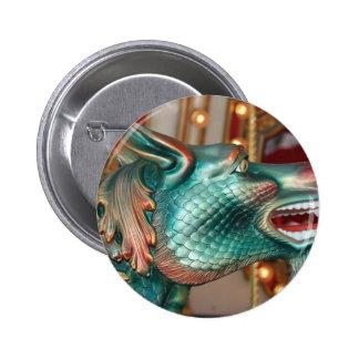 dragon head carousel ride fair image 6 cm round badge