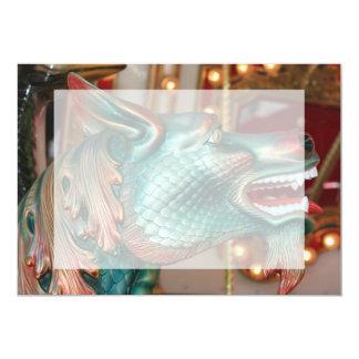 """dragon head carousel ride fair image 5"""" x 7"""" invitation card"""