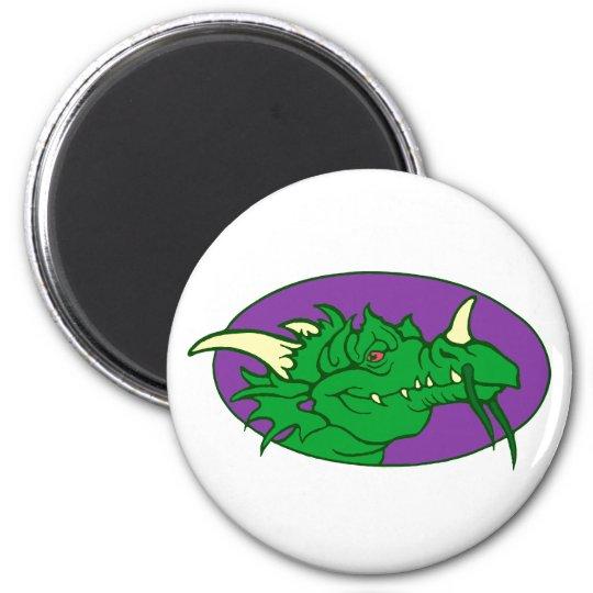 Dragon head dragon head 6 cm round magnet