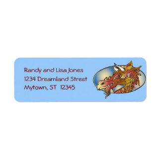 Dragon Head Label Return Address Label