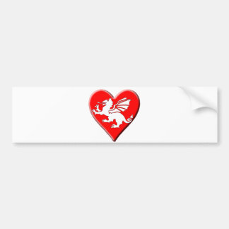 Dragon Heart Bumper Sticker