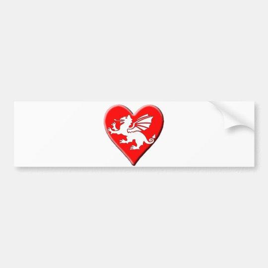 Dragon Heart Bumper Sticker