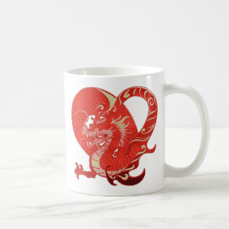 Dragon Heart Valentine Basic White Mug