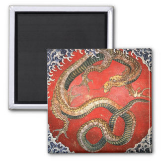 Dragon, Hokusai Japanese Fine Art Magnet