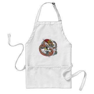dragon holding yin yang standard apron