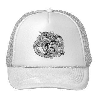 dragon holding yin yang cap