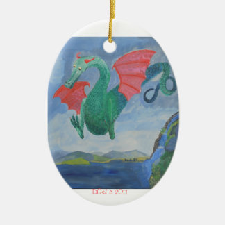 dragon holiday ornament