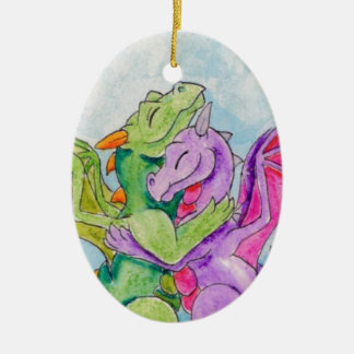 Dragon Hug Christmas Ornament