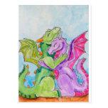 Dragon Hug Post Cards