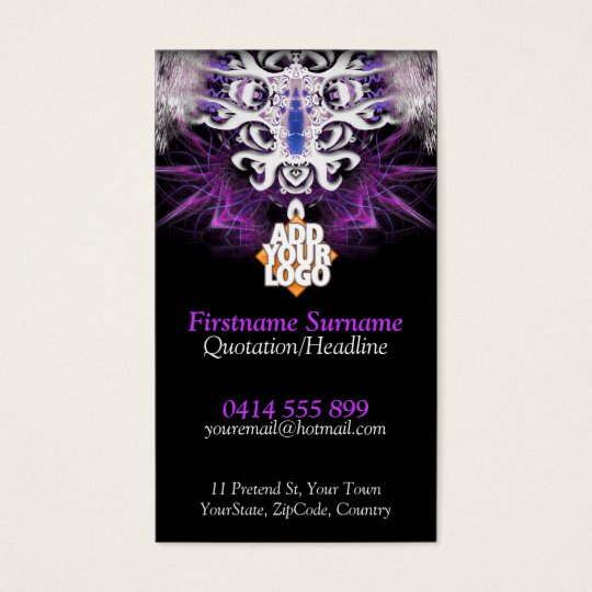 Dragon illusion Fractal Artistry Business Cards