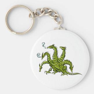 Dragon Image 45 Basic Round Button Key Ring
