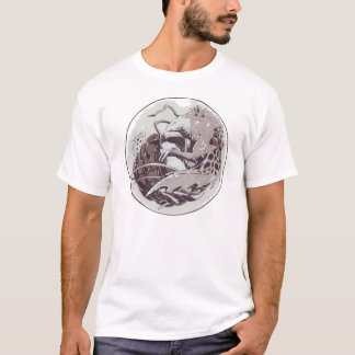 Dragon in a marble basic T-shirt