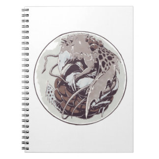 Dragon in a marble notebooks
