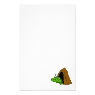 Dragon in Cave Personalized Stationery