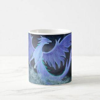 Dragon in cloudy night coffee mug