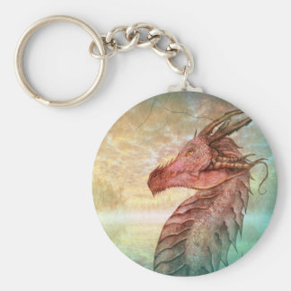 Dragon in nature key ring