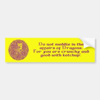 Dragon in Round Celtic Knot Bumper Sticker