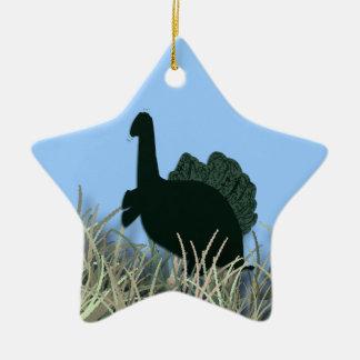 Dragon in the grass ceramic star decoration