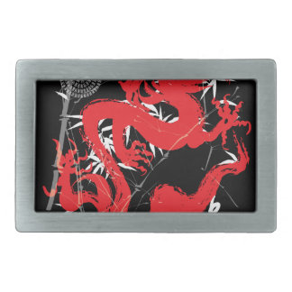 Dragon Japan Fantasy Rectangular Belt Buckle