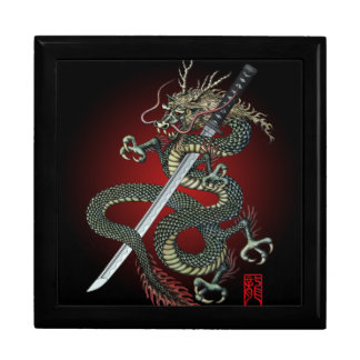 Dragon katana large square gift box