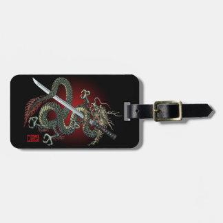 Dragon katana luggage tag