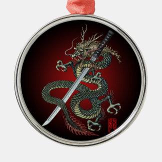 Dragon katana Silver-Colored round decoration