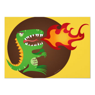 Dragon kids art by little t and M.E. Volmar 13 Cm X 18 Cm Invitation Card