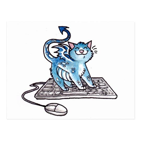 Dragon Kitty Postcard