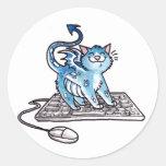 Dragon Kitty Round Sticker