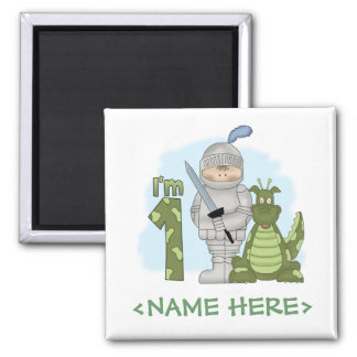 Dragon Knight 1st Birthday Square Magnet