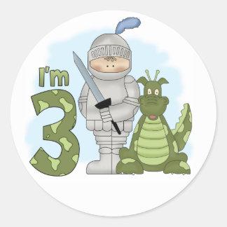 Dragon Knight 3rd Birthday Classic Round Sticker