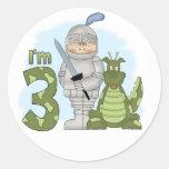 Dragon Knight 3rd Birthday Round Stickers