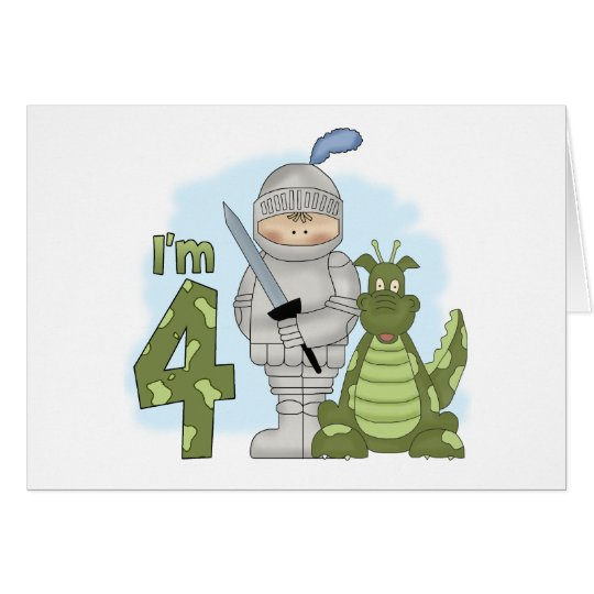 Dragon Knight 4th Birthday Card