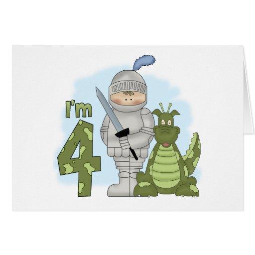 Dragon Knight 4th Birthday Note Card
