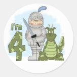 Dragon Knight 4th Birthday Round Sticker