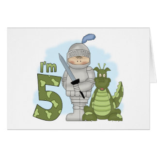 Dragon Knight 5th Birthday Card