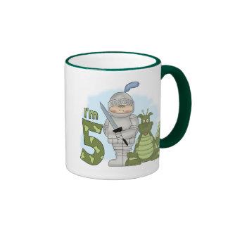 Dragon Knight 5th Birthday Coffee Mugs