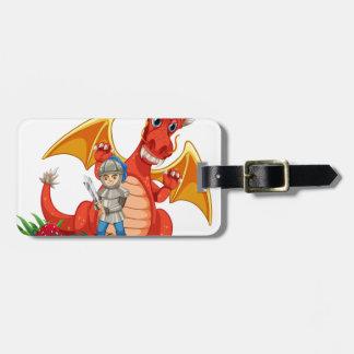 Dragon knight luggage tag