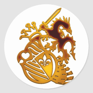 Dragon_Knight Round Sticker