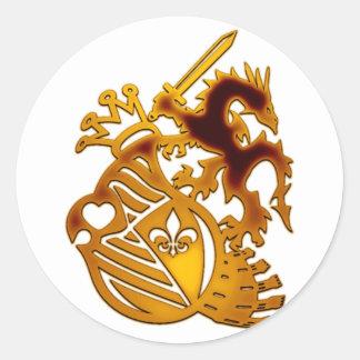 Dragon_Knight Round Sticker