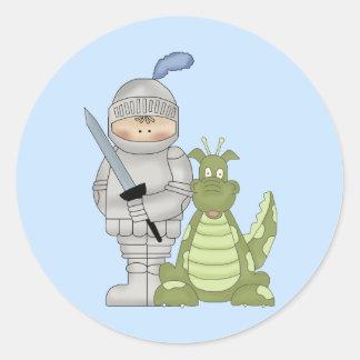 Dragon Knight Round Stickers