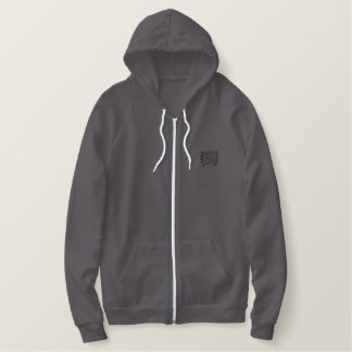 Dragon knot embroidered hoodie