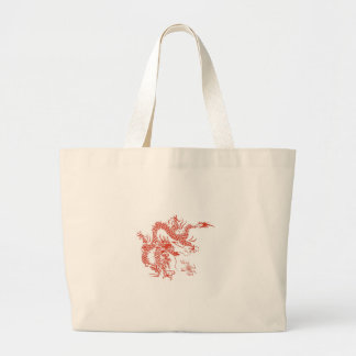 dragon large tote bag