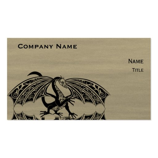 Dragon Love 4 Double-Sided Standard Business Cards (Pack Of 100)