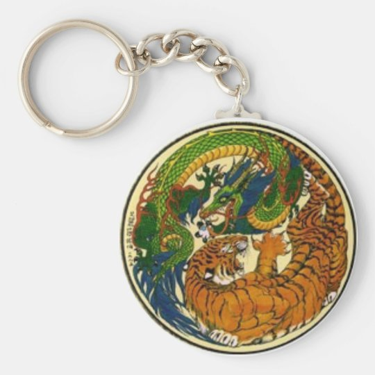Dragon Luck Mall Basic Round Button Key Ring
